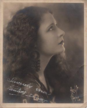 Paulette Duval 1920's hand signed portrait still (1)