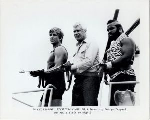 The A-Team 1980's New Zealand Publicity Still with George Peppard, Mr T and Dirk Benedict (3)