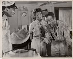 The African Queen 1952 US Still with Humphrey Bogart and Katharine Hepburn (1)
