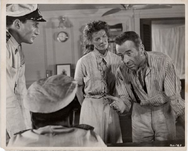 The African Queen 1952 US Still with Humphrey Bogart and Katharine Hepburn (1)
