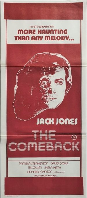 The Comeback australian daybill poster with Jack Jones 1978