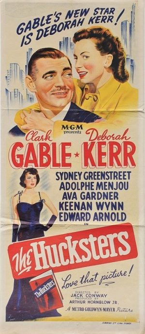 The Hucksters daybill poster with Clarke Gable and Deborah Kerr 1947
