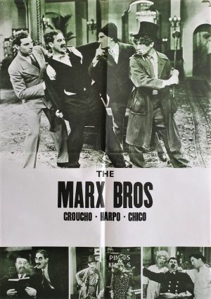 The Marx Bros New Zealand stock one sheet 1980's