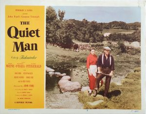 The Quiet Man US Lobby Card with John Wayne and Maureen O'Hara 1951 (1)