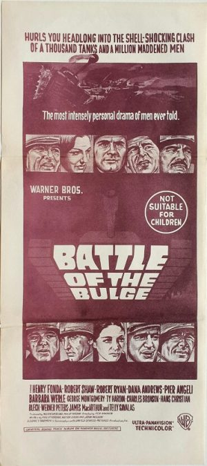 battle of the bulge australian daybill poster