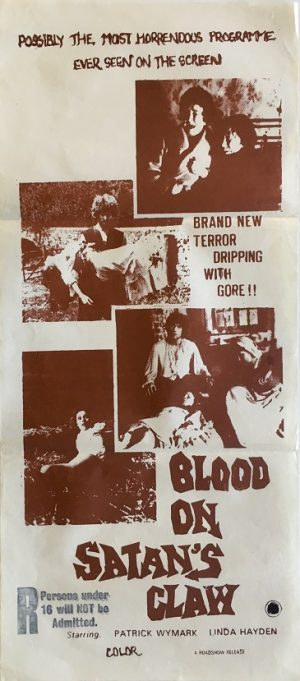 blood on satan's claw daybill poster 1971