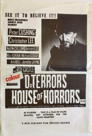Dr Terror's house of terrors new zealand daybill poster with Peter Cushing of Hammer Productions