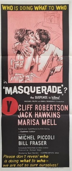 masquerade australian daybill poster 1965 with Cliff Robertson and Jack Hawkins