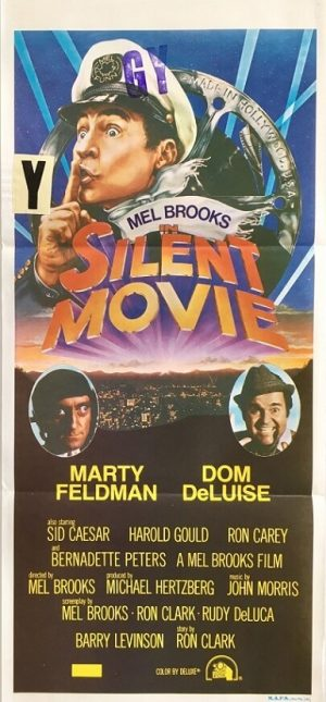 silent movie australian daybill poster from 1976 with mel brooks