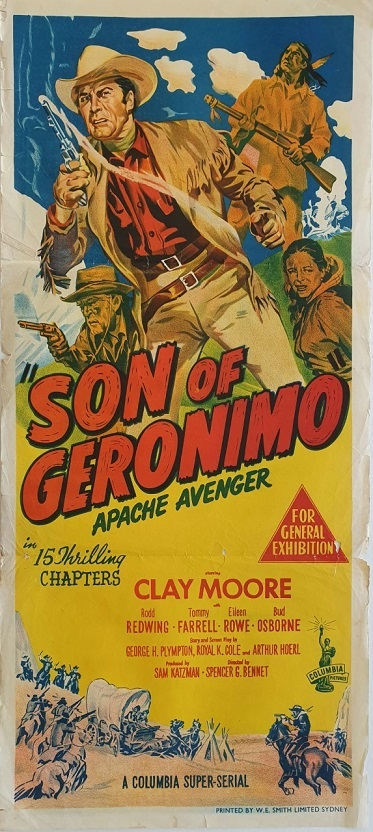 son of geronimo daybill poster western serial chapters 1952