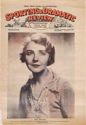 sporting and dramatic review 1930s New Zealand with front page Enid Bennett