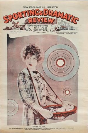 sporting and dramatic review 1931 New Zealand with front page movie actress Esther Ralston