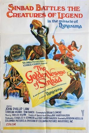 the golden voyage of sinbad australian one sheet poster Ray Harryhausen 1973