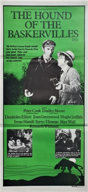 the hound of the baskervilles daybill poster with Dudley Moore and Peter Cook 1978