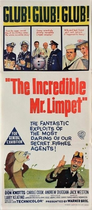 the incredible mr limpet australian daybill poster (3)