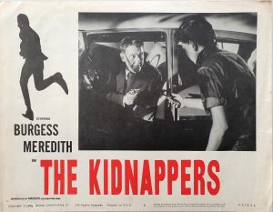 the kidnappers US lobby cards with Burgess Meredith 1964