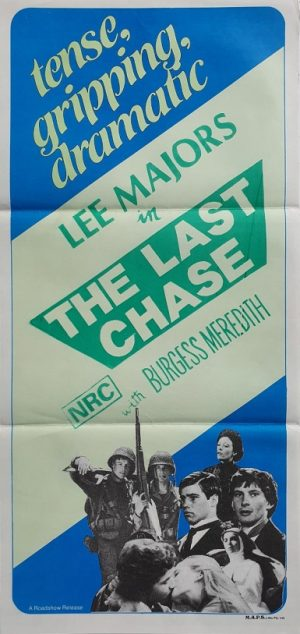 the last chase australian stock daybill poster with Lee Majors 1981