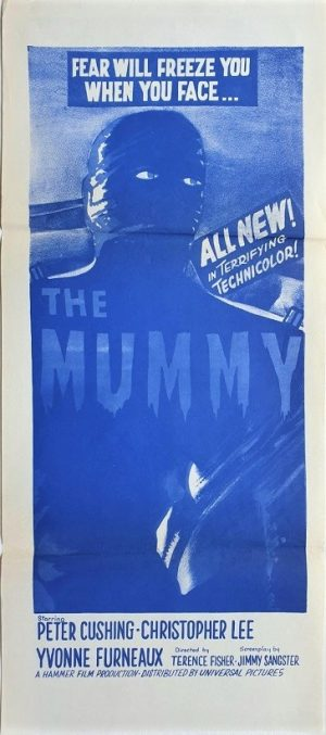 The Mummy australian daybill poster with Christopher Lee and Peter Cushing