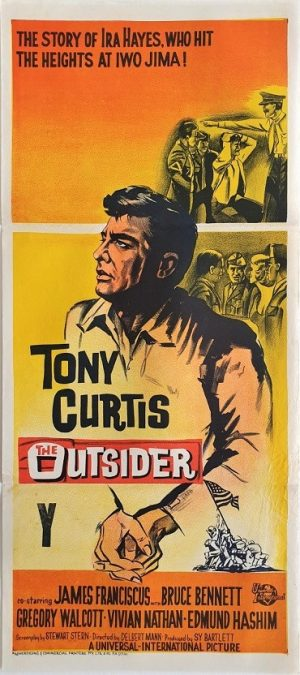 the outsider daybill poster with Tony Curtis 1961