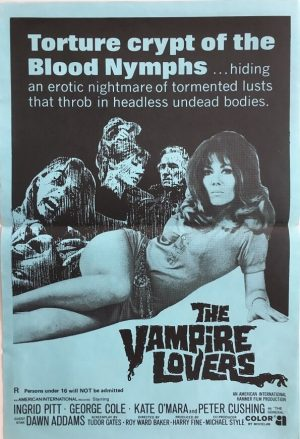 the vampire lovers new zealand poster 1970 hammer production