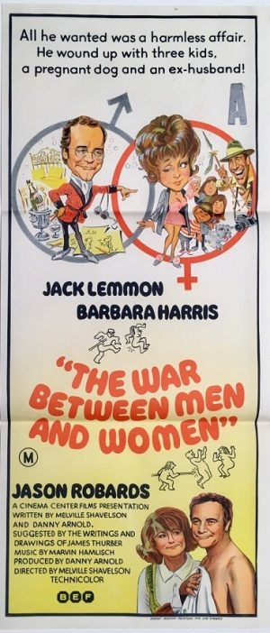 the war between men and women daybill poster with jack lemmon and barbara harris 1972