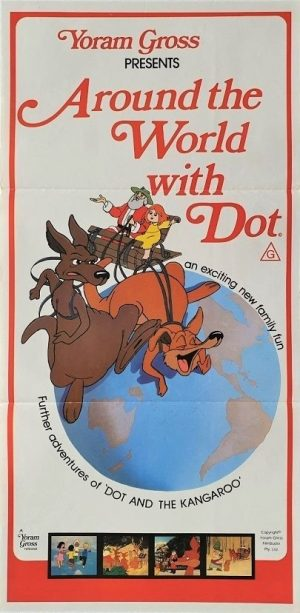 Around the world with dot australian daybill poster 1981