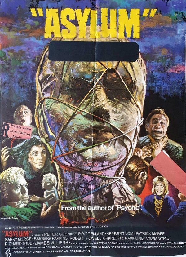 Asylum UK One Sheet New Zealand censored 1972
