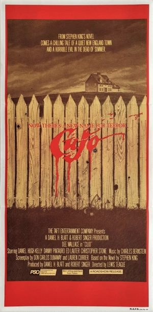 Cujo daybill poster by Stephen King 1983