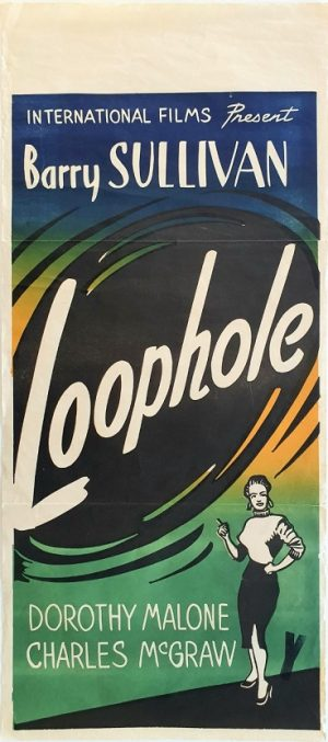 Loophole 1954 New Zealand daybill poster