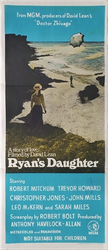 Ryan's Daughter daybill poster directed by David Lean staring John Mills