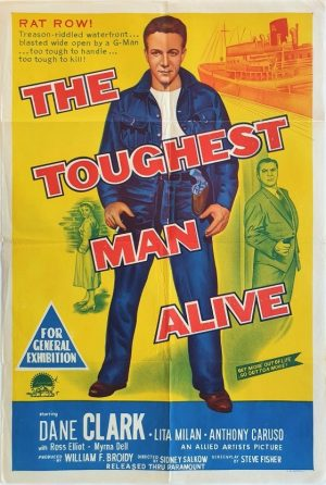 The toughest man alive australian one sheet movie poster 1955