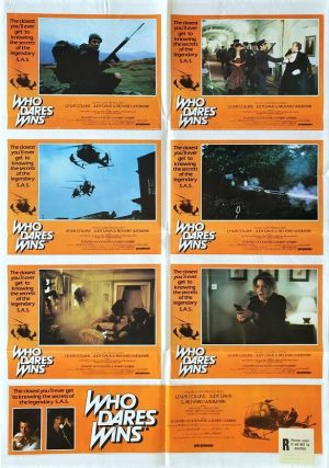 Who dares wins australian lobby card one sheet poster 1982 with Lewis Collins as an SAS officer
