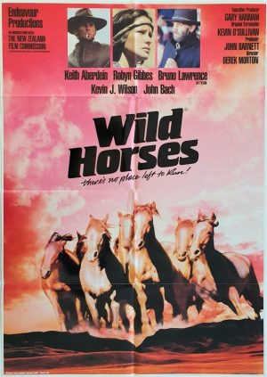 Wild horses New Zealand one sheet movie poster 1984