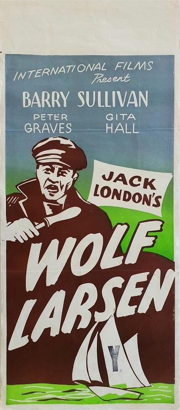 Wolf Larson New Zealand daybill poster 1958
