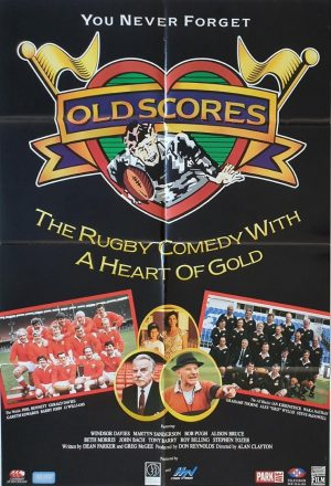 old scores New Zealand one sheet poster for this 1991 All Blacks and Wales rugby comedy