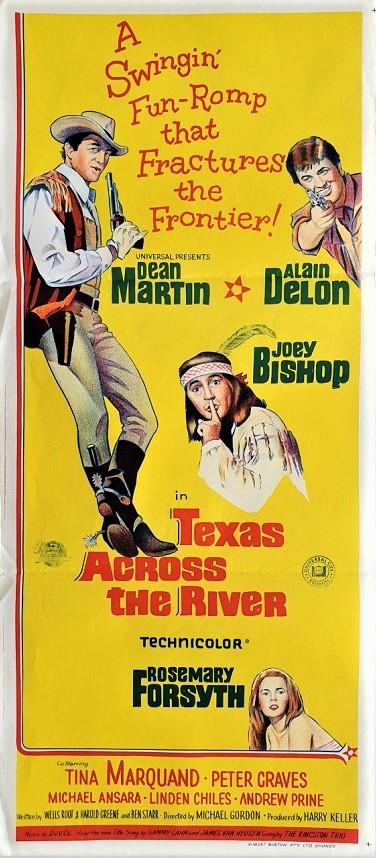 texas across the river daybill poster with Dean Martin 1966