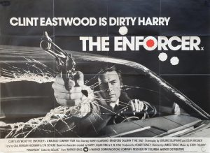 the enforcer 1976 UK quad poster with Clint Eastwood