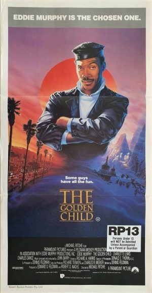 the golden child australian daybill poster with Eddie Murphy 1986