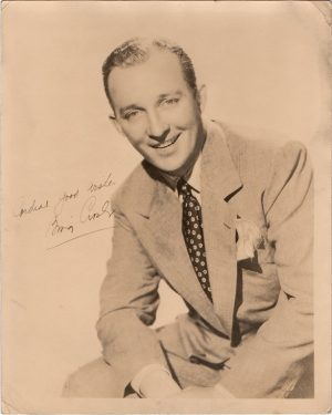 Bing Crosby 1940's Portrait signed