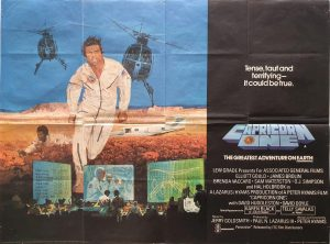 Capricorn One uk quad poster 1977 with O J Simpson and Elliott Gould