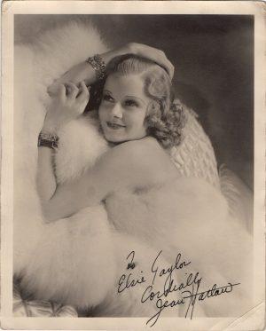 Jean Harlow hand signed portrait autograph 1930's (2)