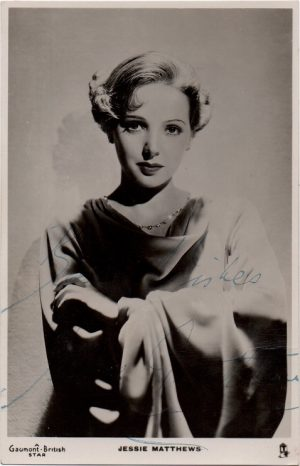 Jessie Mathews hand signed portrait 1936 autograph from Gaumont British pictures (1)