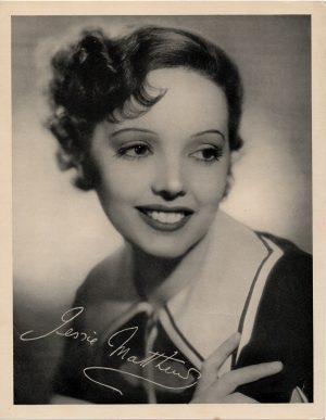 Jessie Matthews 1930's portrait signed