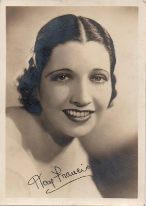 Kay Francis 1930s portrait fan club signed