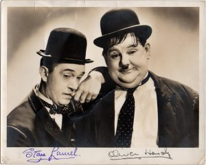 Laurel & Hardy 1937 Way Out West signed portrait (4)