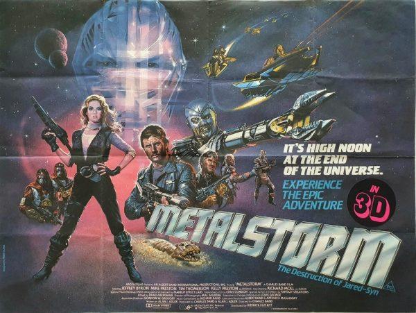 Metalstorm uk quad poster 1983 sci-fi movie