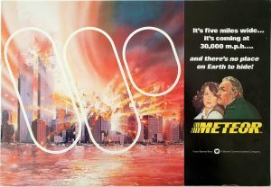 Meteor promotional brochure with Sean Connery and Trevor Howard (6) artwork by Tom Beauvais
