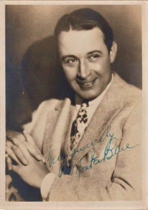 Monte Blue 1930's hand signed portrait
