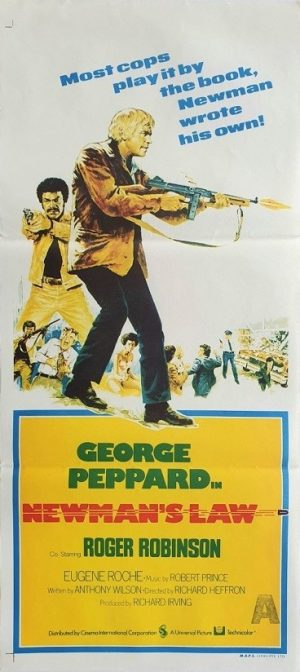 Newman's Law australian daybill movie poster with George Peppard 1974