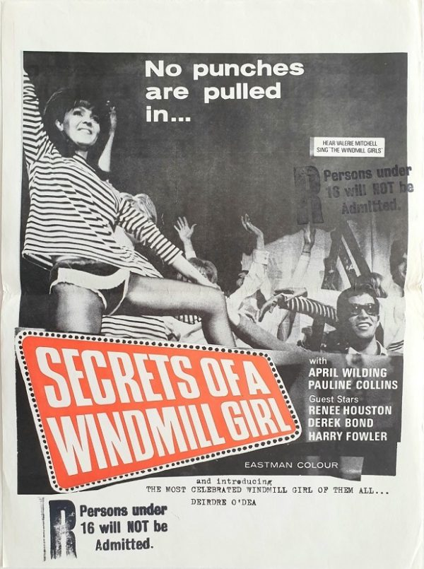 Secrets of a windmill girl New Zealand daybill movie poster 1966